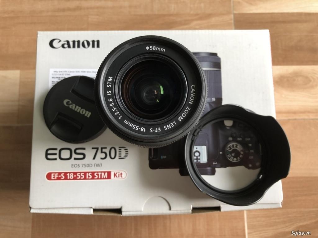 Canon EOS 750D kèm lens kit 18-55 STM chính hãng Lê Bảo Minh - 5