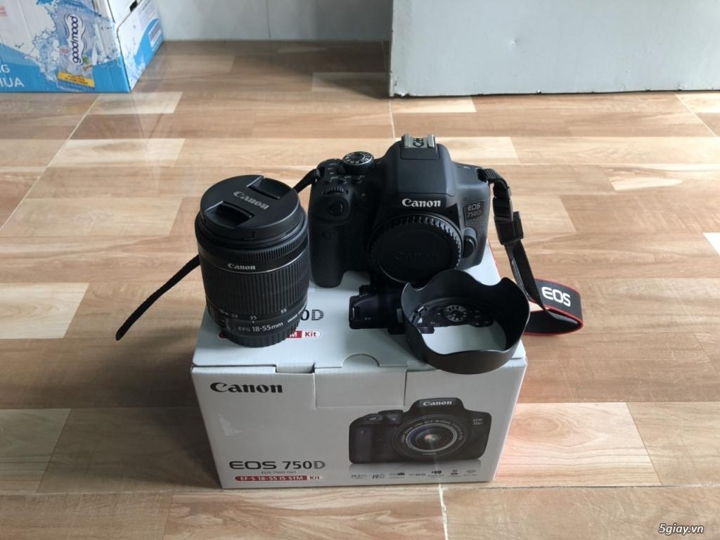 Canon EOS 750D kèm lens kit 18-55 STM chính hãng Lê Bảo Minh - 1