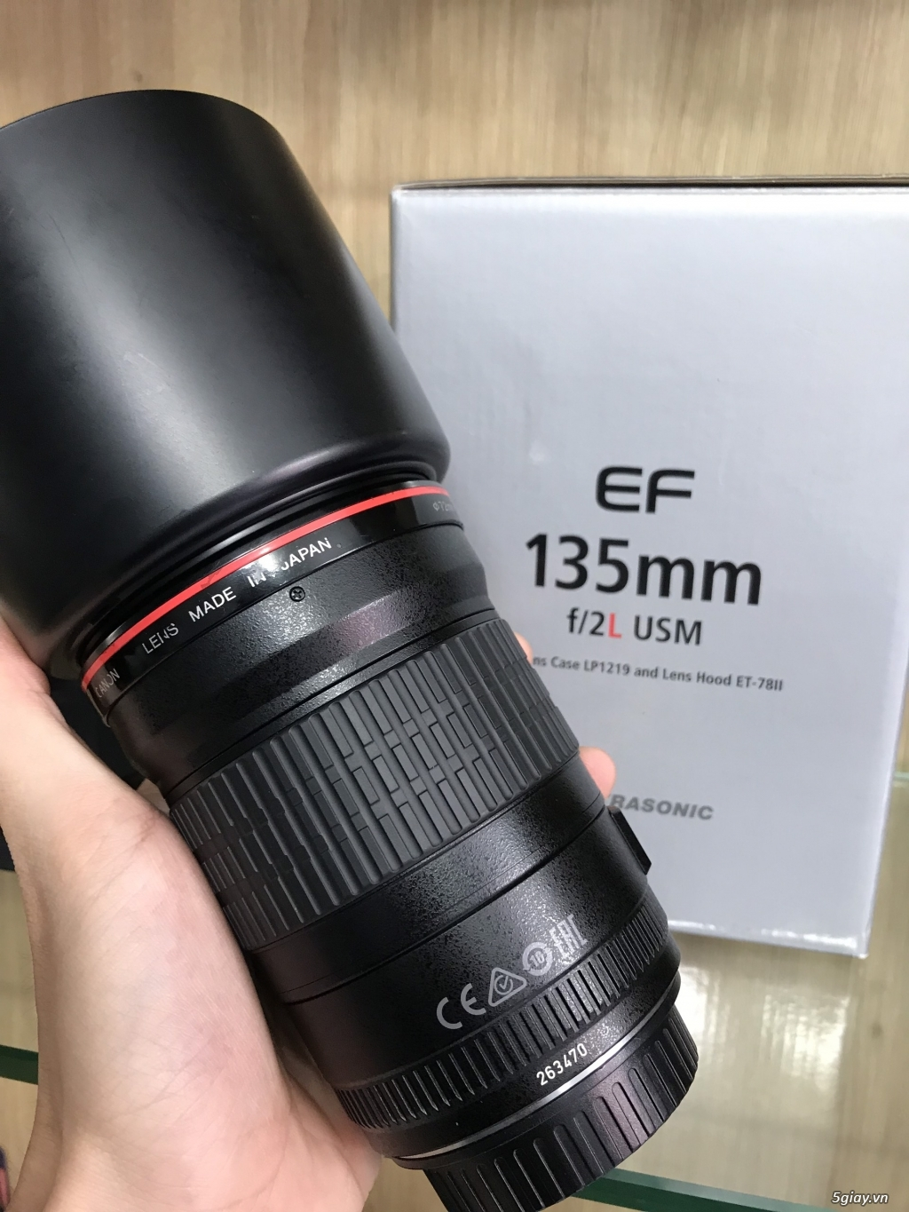 #ThienLongCamera Canon EF 135mm f/2L USM Fullbox - 2