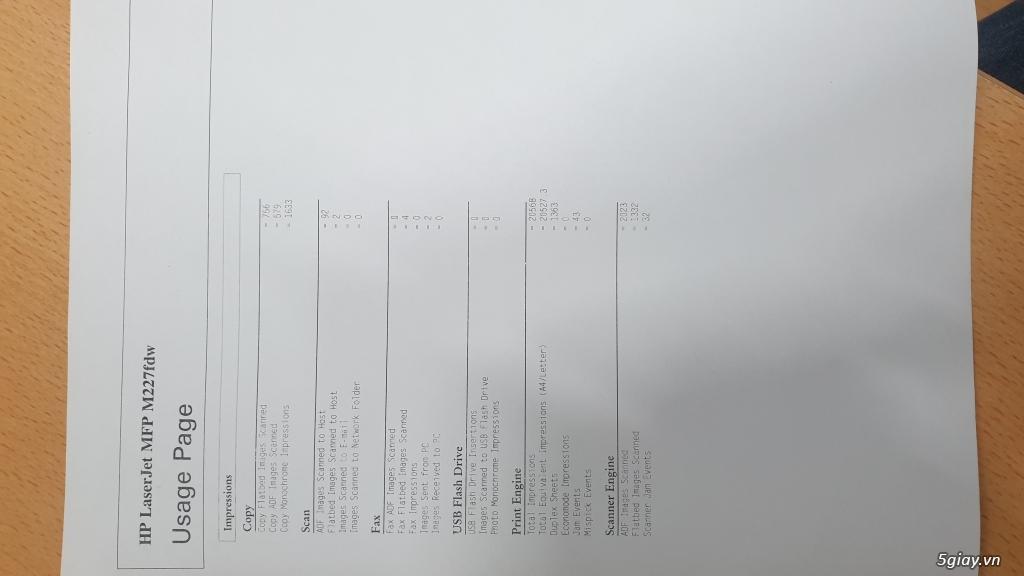 Thanh lý máy in đa năng wifi HP M227FDW mới keng xà beng - 1