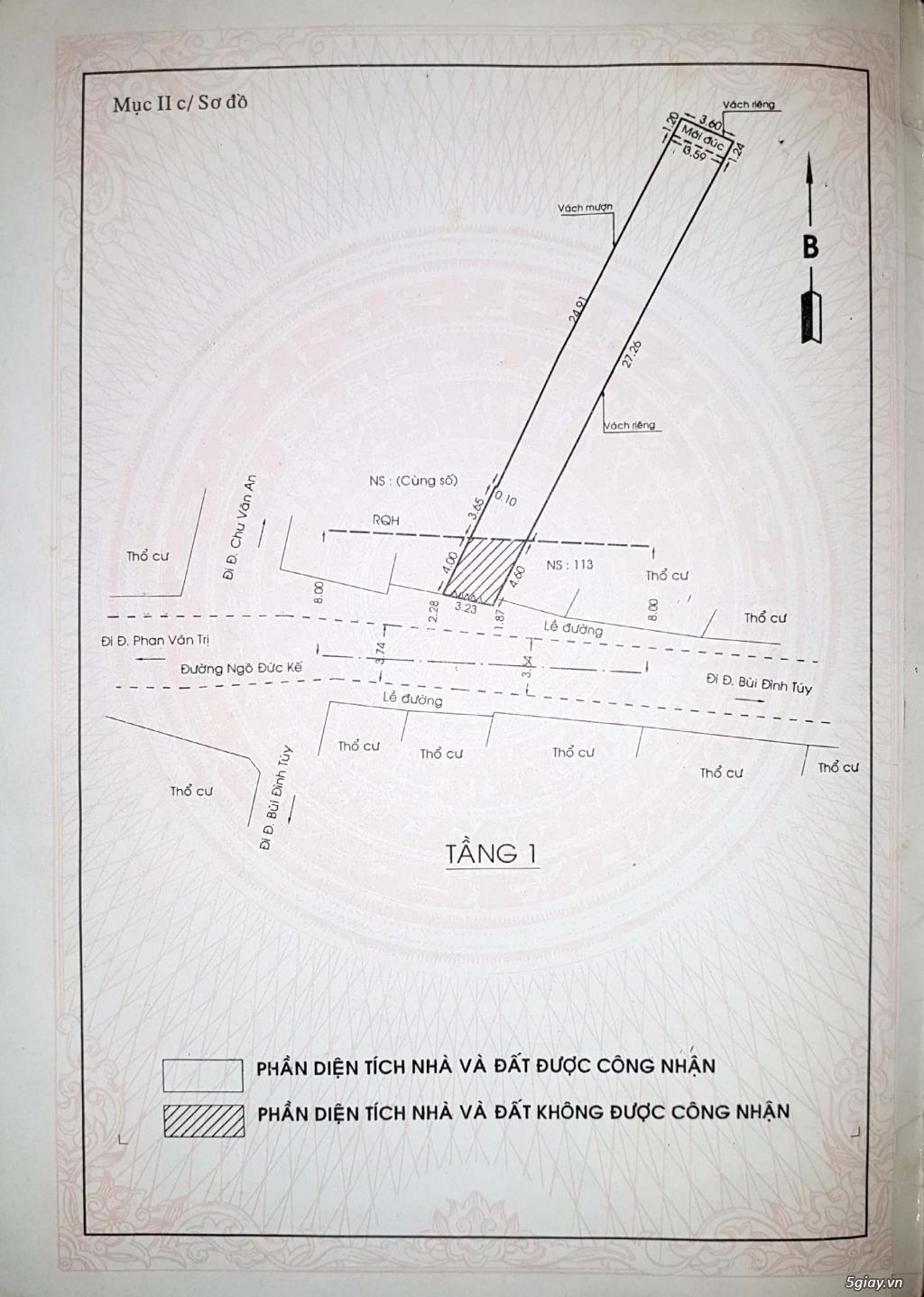 Nhà Mặt Tiền ( giá rẻ ), DT: 117m2, 93 Ngô Đức Kế, Quận Bình Thạnh - 3