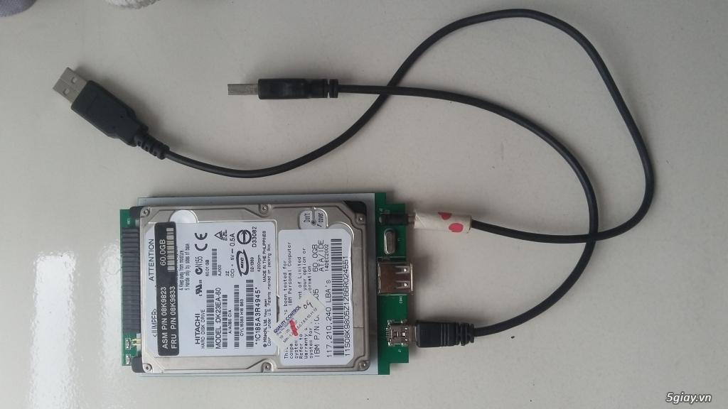 HDD laptop ATA và usb box - 1