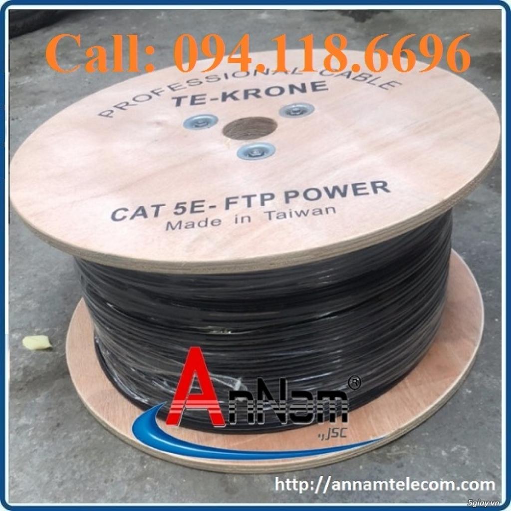 Cáp mạng liền nguồn Cat5e FTP 2C lõi đồng ngoài trời TE-KRONE