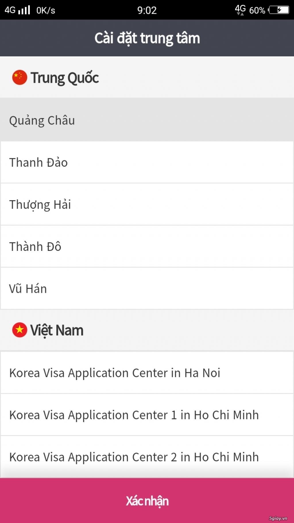 Kim Nhật nhận đặt lịch hẹn nộp xin visa Hàn Quốc