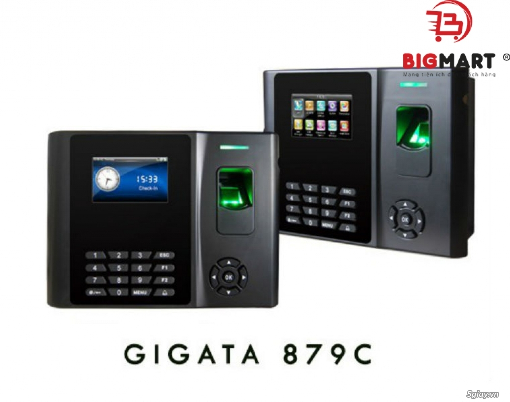 Máy chấm công vân tay và thẻ casg GIGATA 879C - 1