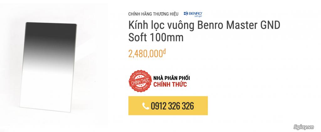 [HCM] Sale Benro filter vuông hệ 100mm FH100M2