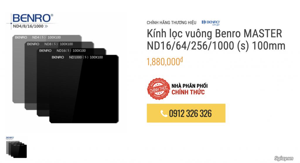 [HCM] Sale Benro filter vuông hệ 100mm FH100M2 - 2