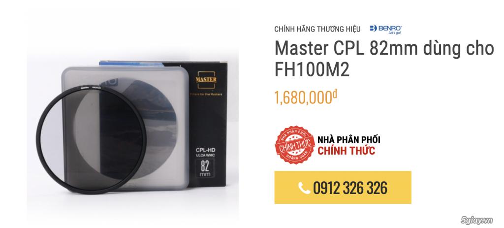 [HCM] Sale Benro filter vuông hệ 100mm FH100M2 - 1
