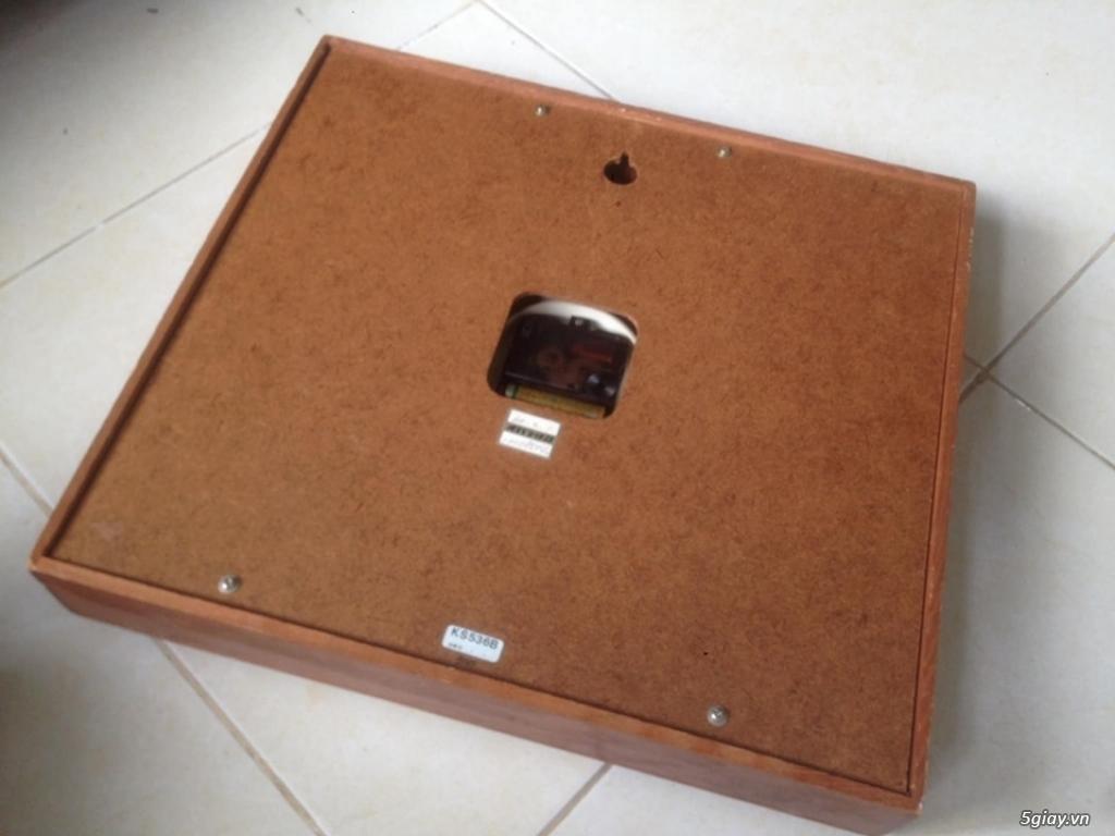 Đồng hồ treo tường Seiko vỏ gỗ của Nhật - 2