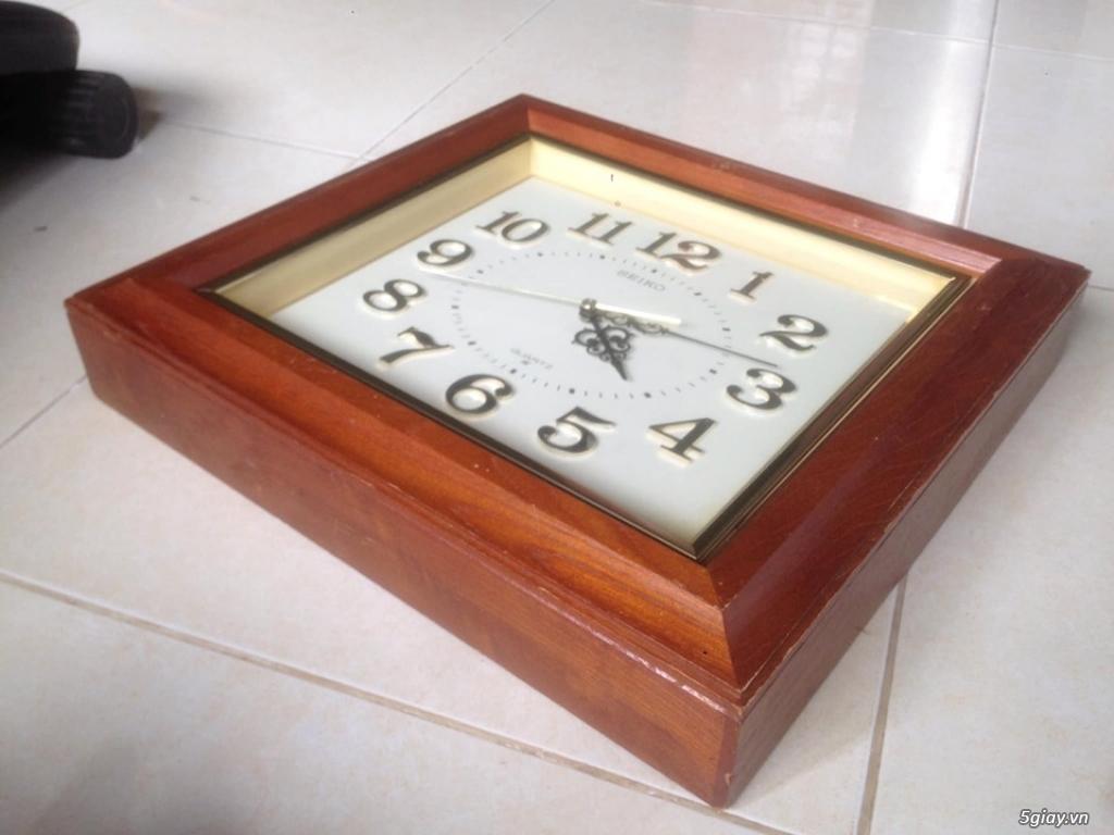 Đồng hồ treo tường Seiko vỏ gỗ của Nhật - 3