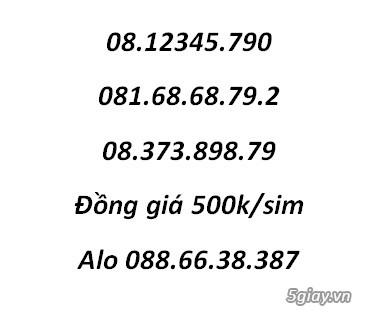 3 sim Phong Thủy đồng giá 500k chính chủ.