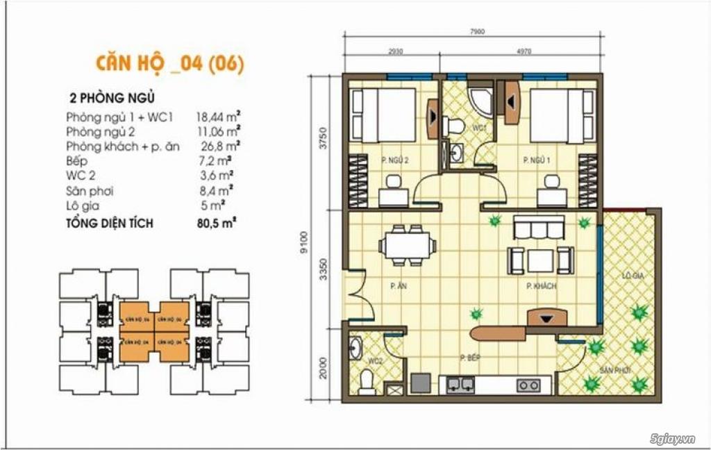 Bán căn hộ Tecco Tower Linh Đông, Thủ Đức 80m² 2PN