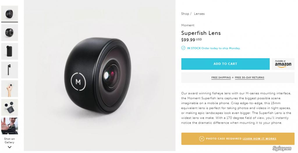 [HCM] Cần bán combo lens của hãng Moment nổi tiếng