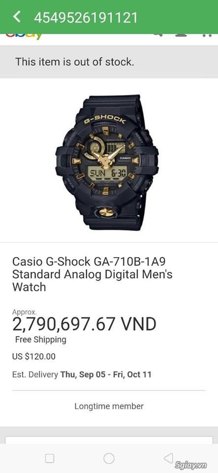Gshock GA 710B - 1