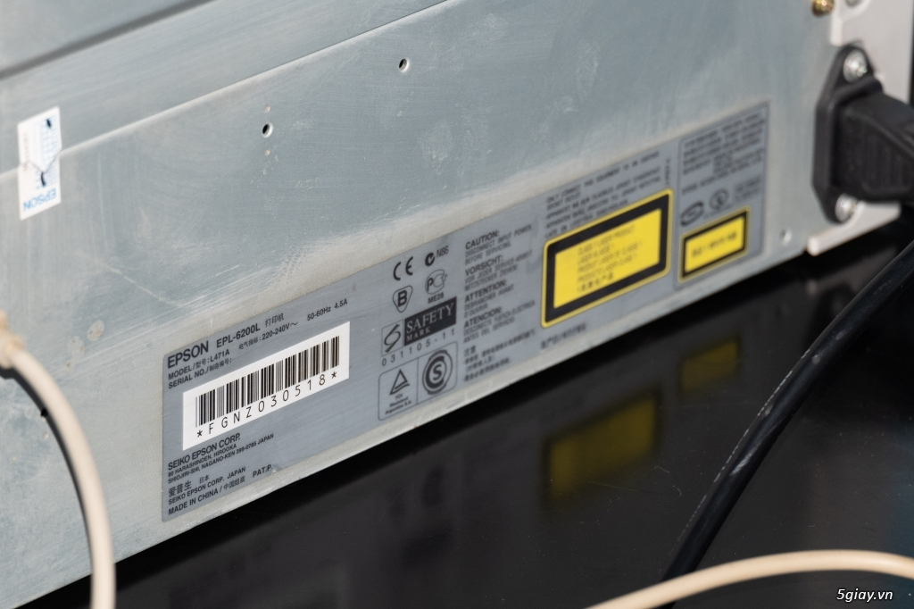 Máy In Laser Trắng Đen EPSON EPL-6200L