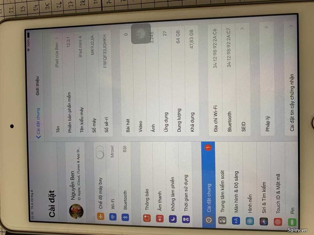 ipad Mini 4 only wifi 64GB Gold - 4