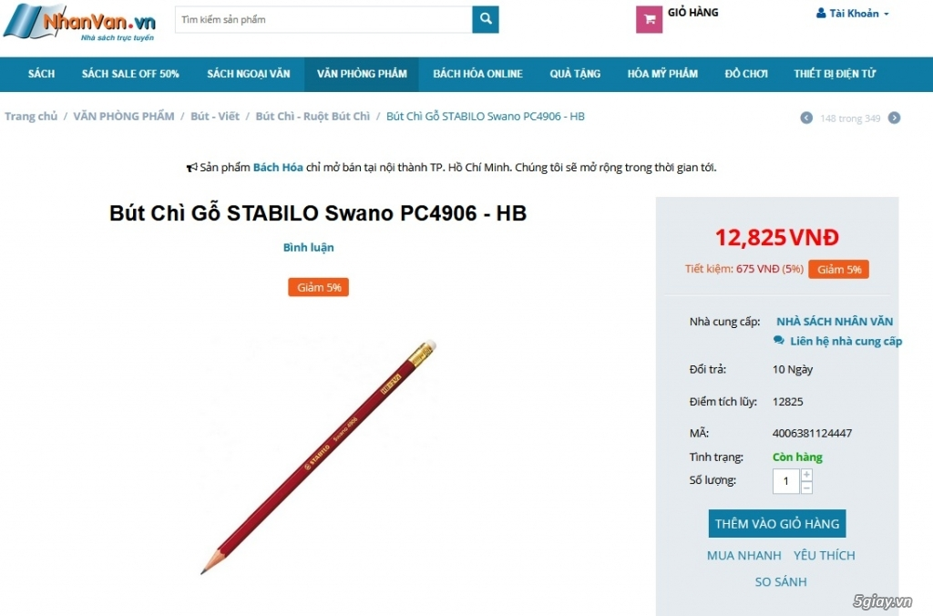 Bút chì gỗ STABILO Swano 4906 xịn cho bé đi học, mới 100% End: 23h 01/09/19 - 5