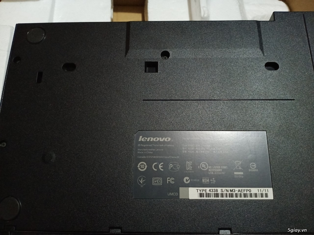 ThinkPad Mini Dock Series 3 T420 W520 X220, Fan W520, Sạc W520-170w - 3