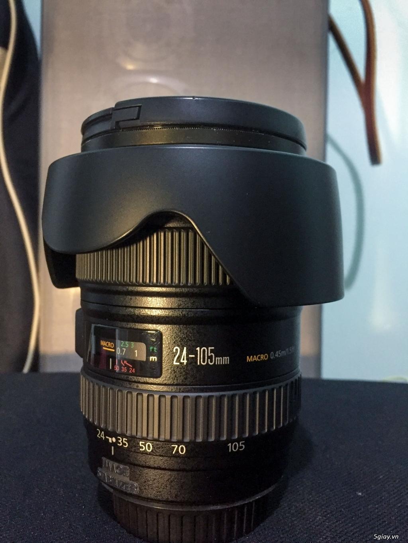 Đà Lạt Bán ống kính Canon 24-105L còn rất mới - 4