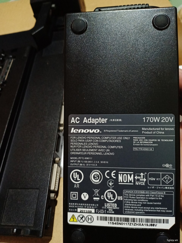ThinkPad Mini Dock Series 3 T420 W520 X220, Fan W520, Sạc W520-170w - 6