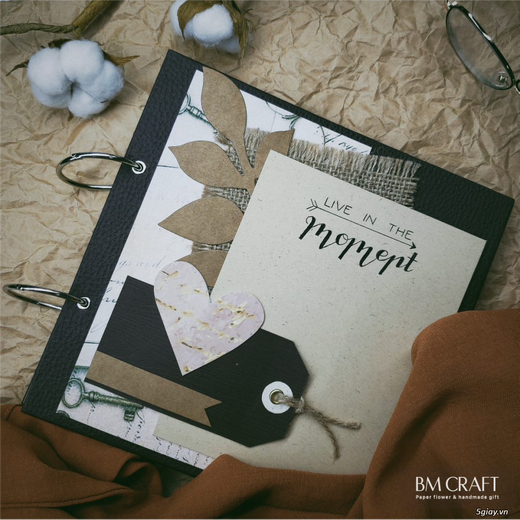 Scrapbook handmade - quà tặng album dán ảnh handmade - 2