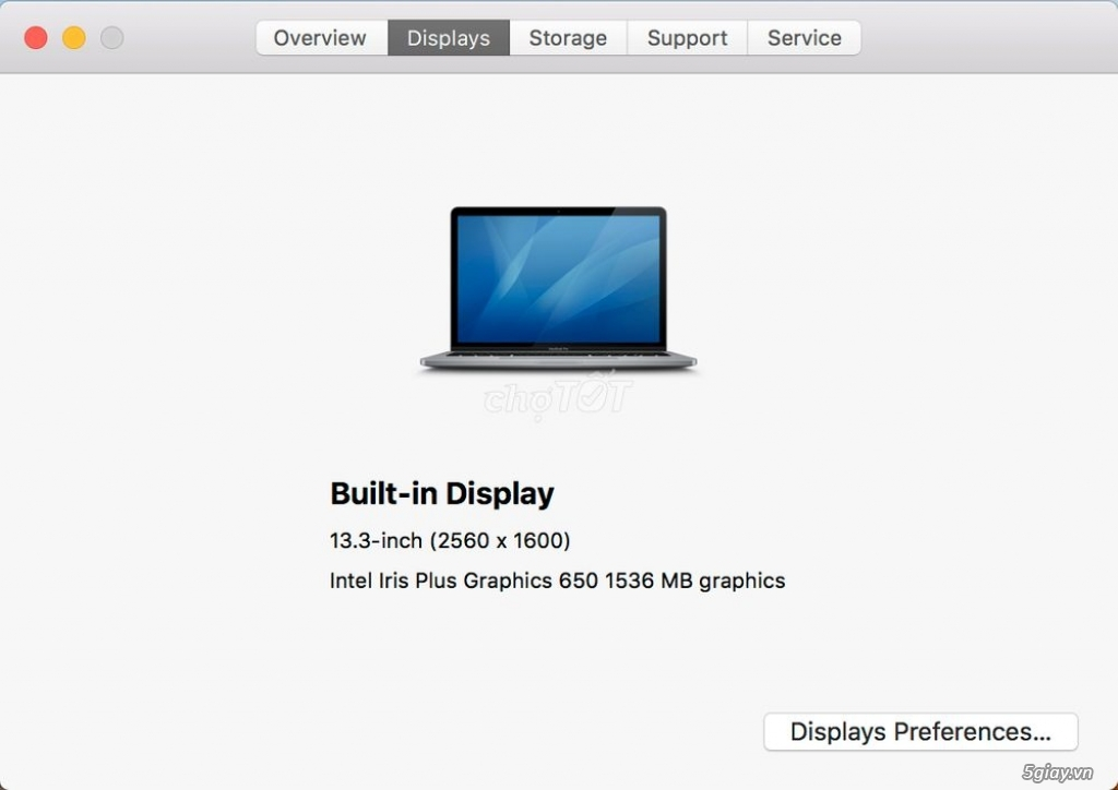 Cần bán Macbook Pro Touchbar 2017 i7/16G/500GB - 2