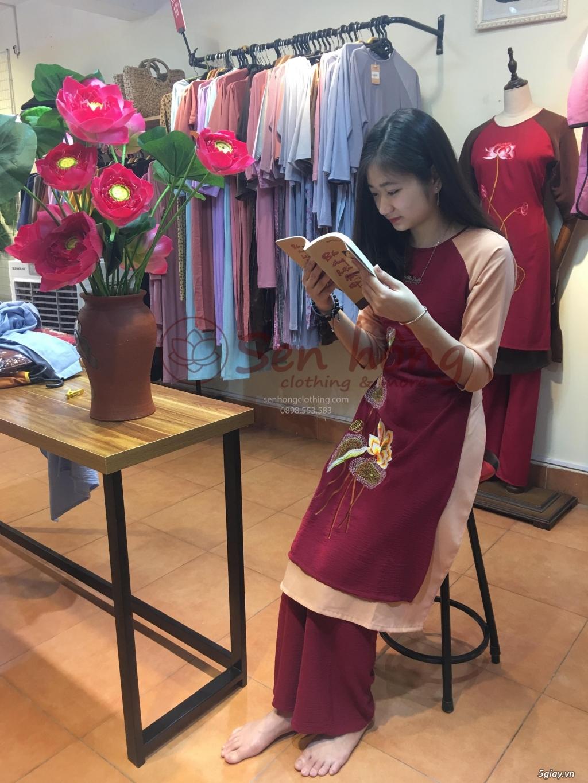 Áo dài cách tân Phật tử đi lễ - Pháp phục cao cấp hcm ANCLOTHING - 4