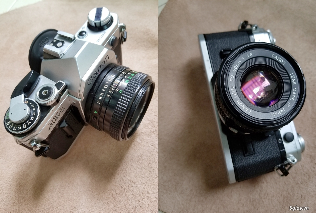 HCM-Bán máy chụp film Canon AE1 & lens Canon 50/1.8