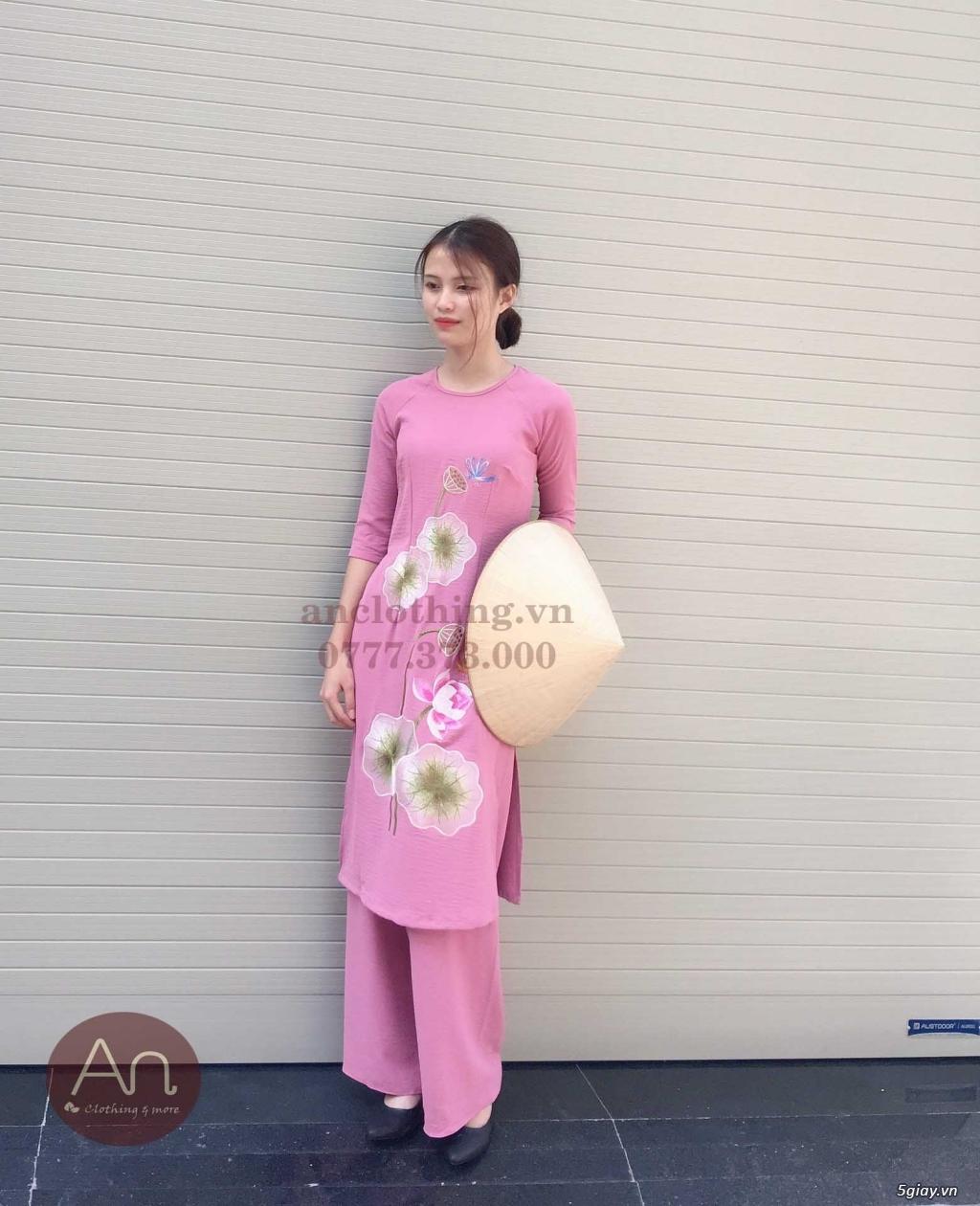 Áo dài cách tân Phật tử đi lễ - Pháp phục cao cấp hcm ANCLOTHING - 12