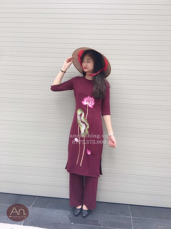 Áo dài cách tân Phật tử đi lễ - Pháp phục cao cấp hcm ANCLOTHING - 13