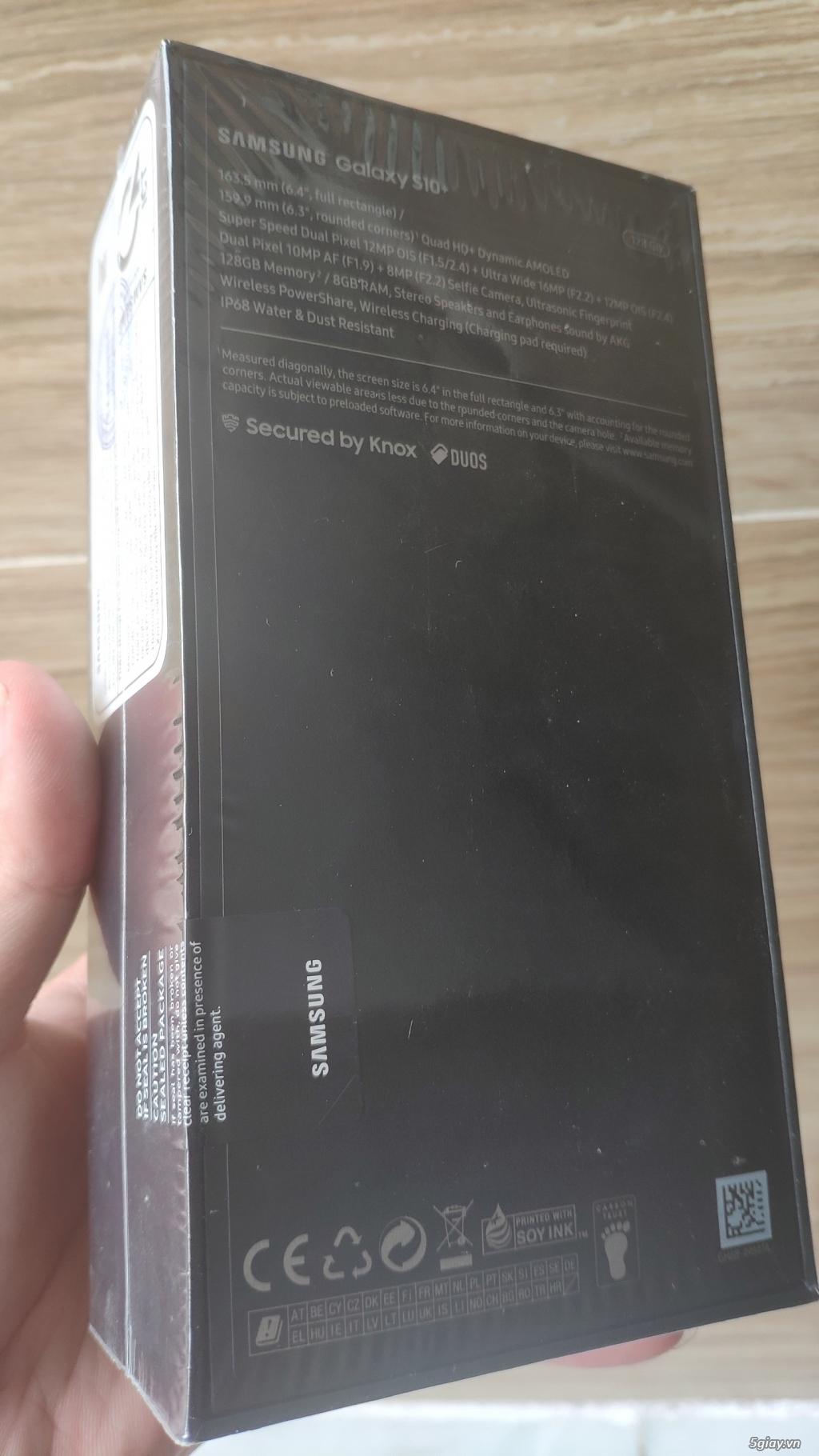 Galaxy S10 plus - prism white - 128gb chính hãng - fullbox nguyên seal - 2