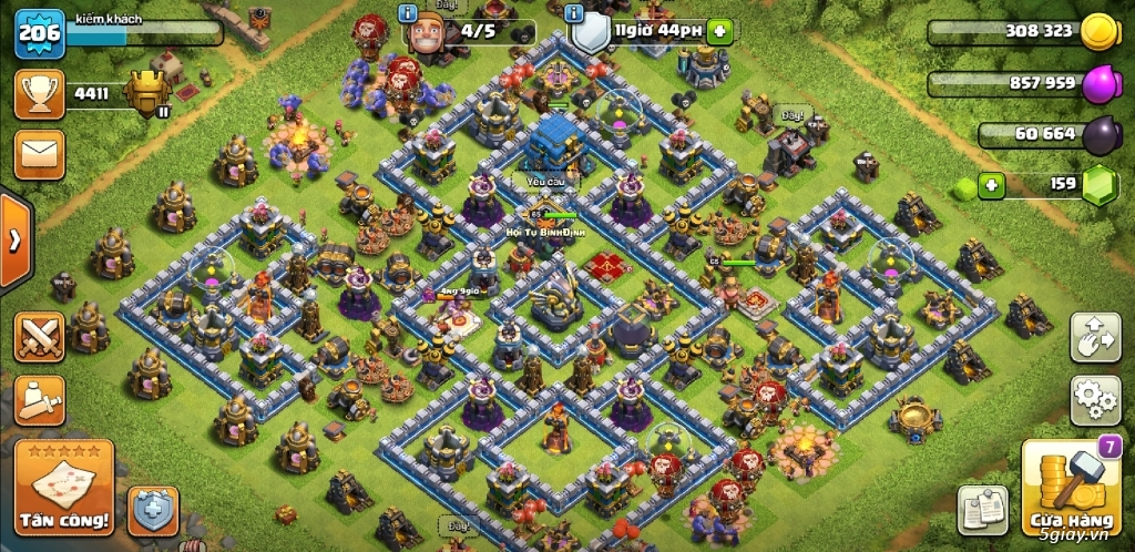 Bán game clash of clans hall 12 - 2