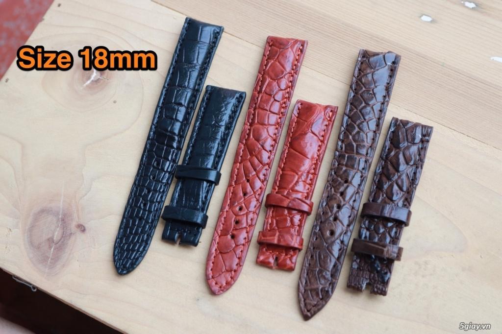 SARANA: Chuyên bán dây đồng hồ da cá sấu thật 100% - 1