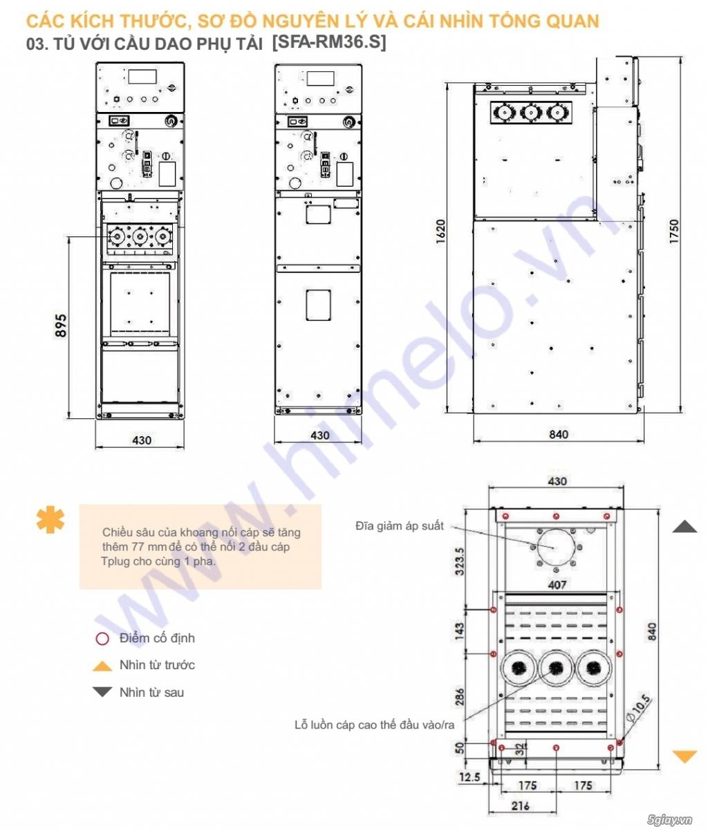 TỦ TRUNG THẾ RMU 40.5KV SFA-RM36.S - 3