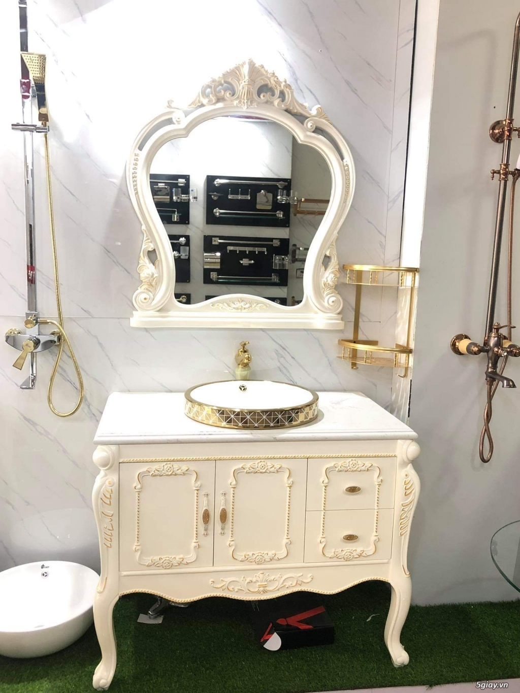 Bán tủ chậu lavabo tân cổ điển, hiện đại, tủ chậu mặt đá phòng tắm - 48