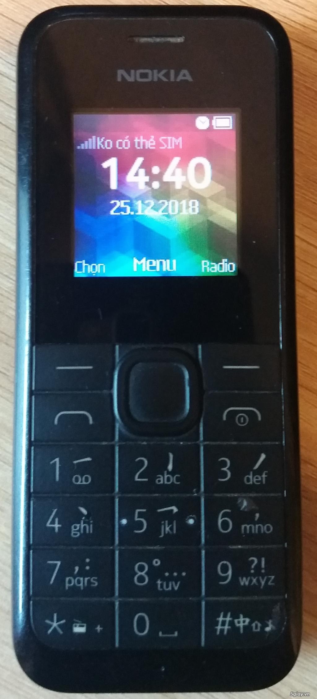 Nokia 105 hàng TGDĐ đầy đủ phụ kiện lên sàn - End 22h59 ngày 5/9/2019