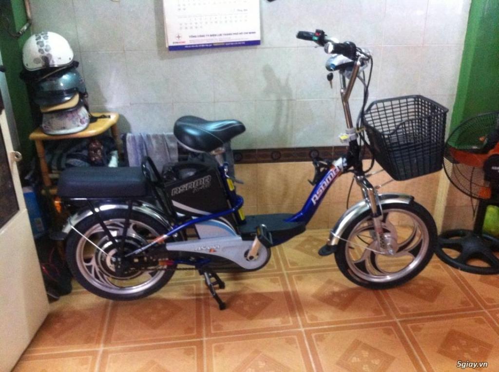 Xe đạp điện hiệu Asama xanh, BH còn 10 tháng