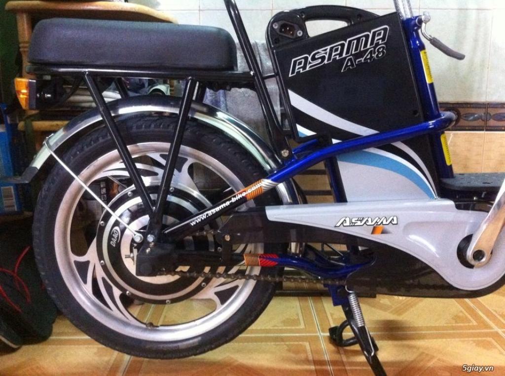 Xe đạp điện hiệu Asama xanh, BH còn 10 tháng - 3