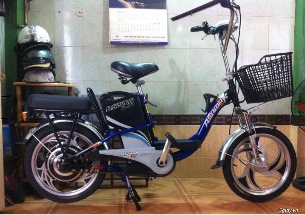 Xe đạp điện hiệu Asama xanh, BH còn 10 tháng - 2