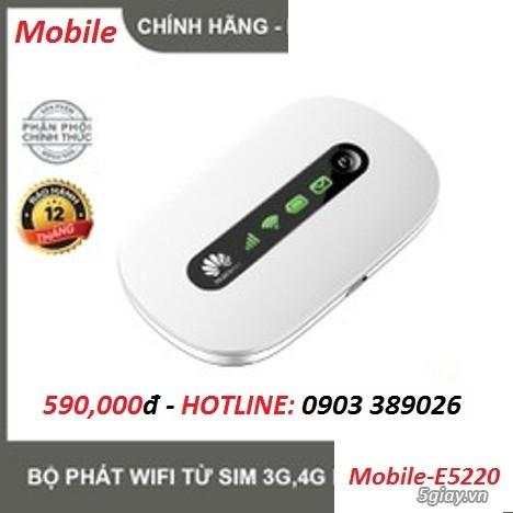 Router Wifi di động Mobile E5220 chuẩn phát 4G