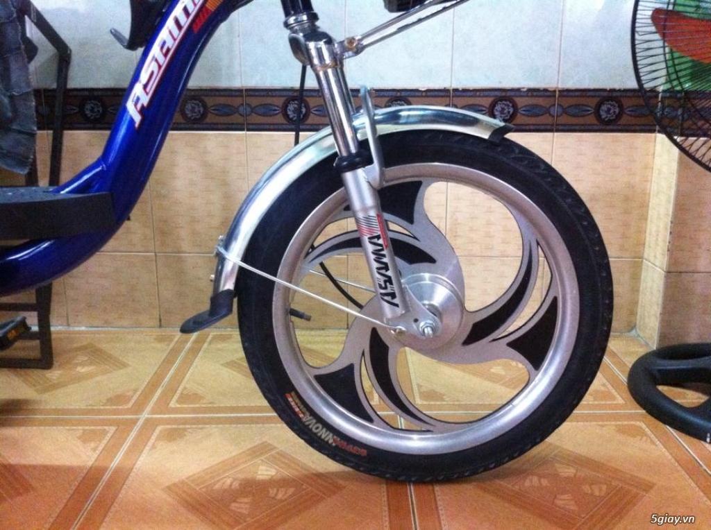 Xe đạp điện hiệu Asama xanh, BH còn 10 tháng - 1