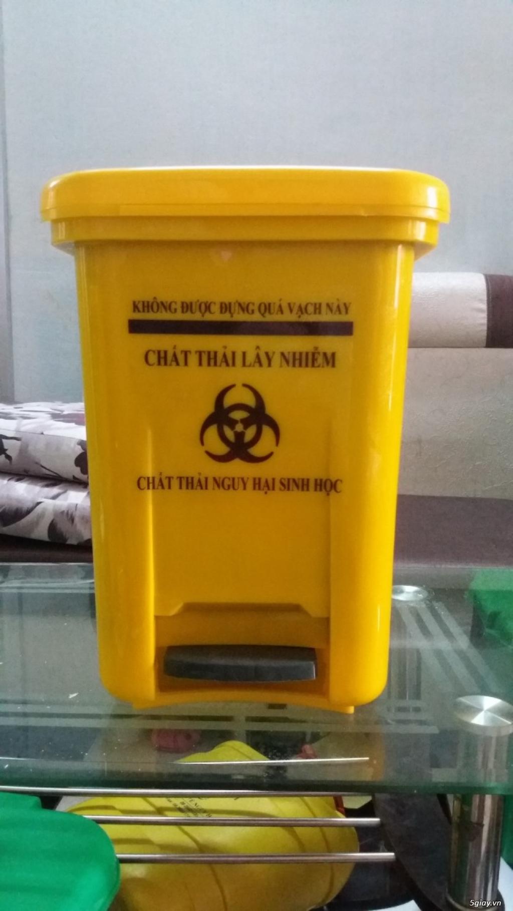 Giá bán thùng đựng rác thải y tế 20 lit đựng chất thải nguy hại - 4