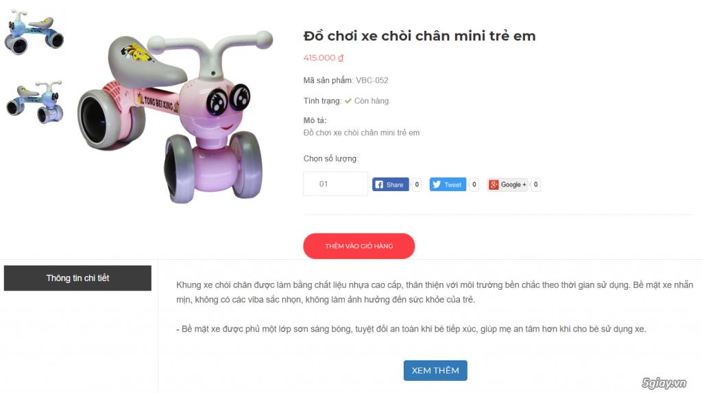 Đồ chơi xe chòi chân mini trẻ em - 1