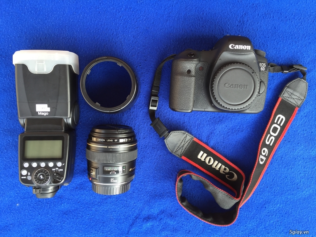 [BÁN] Canon 6D, lens 85 f/1.8, Flash Pixel Mago [tất cả Full Box] - 2