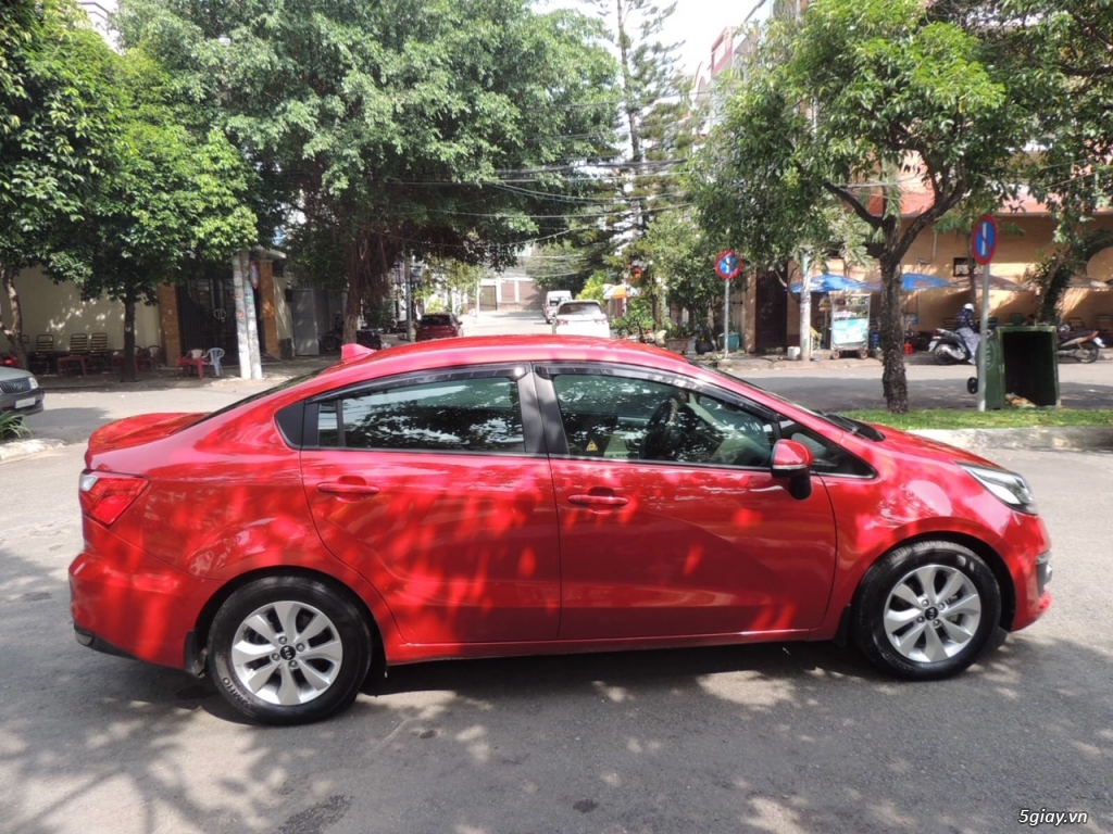 KIA RIO 1.4 AT, nhập khẩu, màu đỏ Sx 2015 - 6