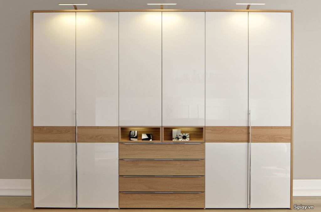 Tủ áo - tủ âm tường ,Tủ áo acrylic,Tủ quần áo laminate chống trầy - 12