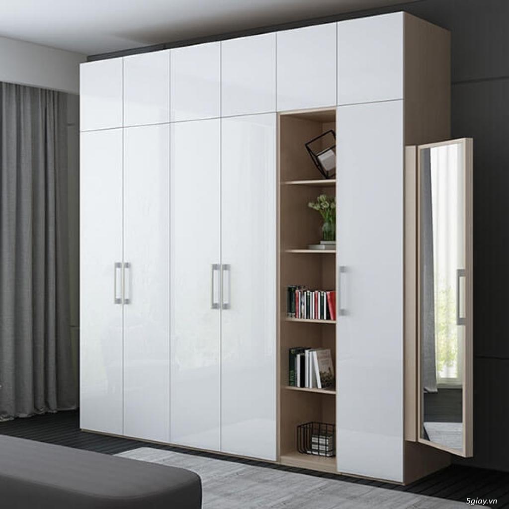Tủ áo - tủ âm tường ,Tủ áo acrylic,Tủ quần áo laminate chống trầy - 15