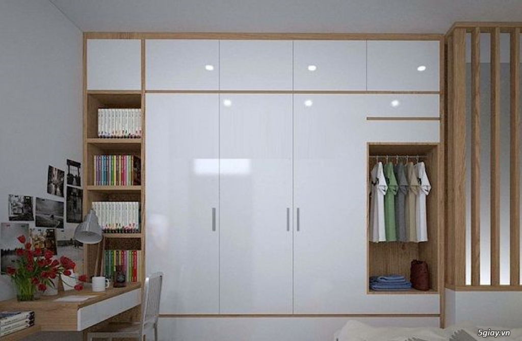 Tủ áo - tủ âm tường ,Tủ áo acrylic,Tủ quần áo laminate chống trầy - 16
