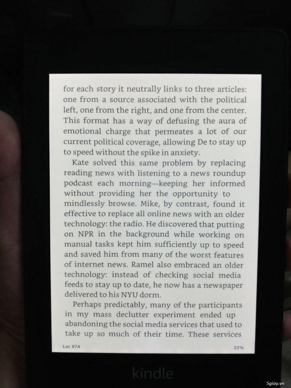 Kindle PaperWhite Gen 4 (10th) Mới 100%. End: 22h59 - 16/9 - 3