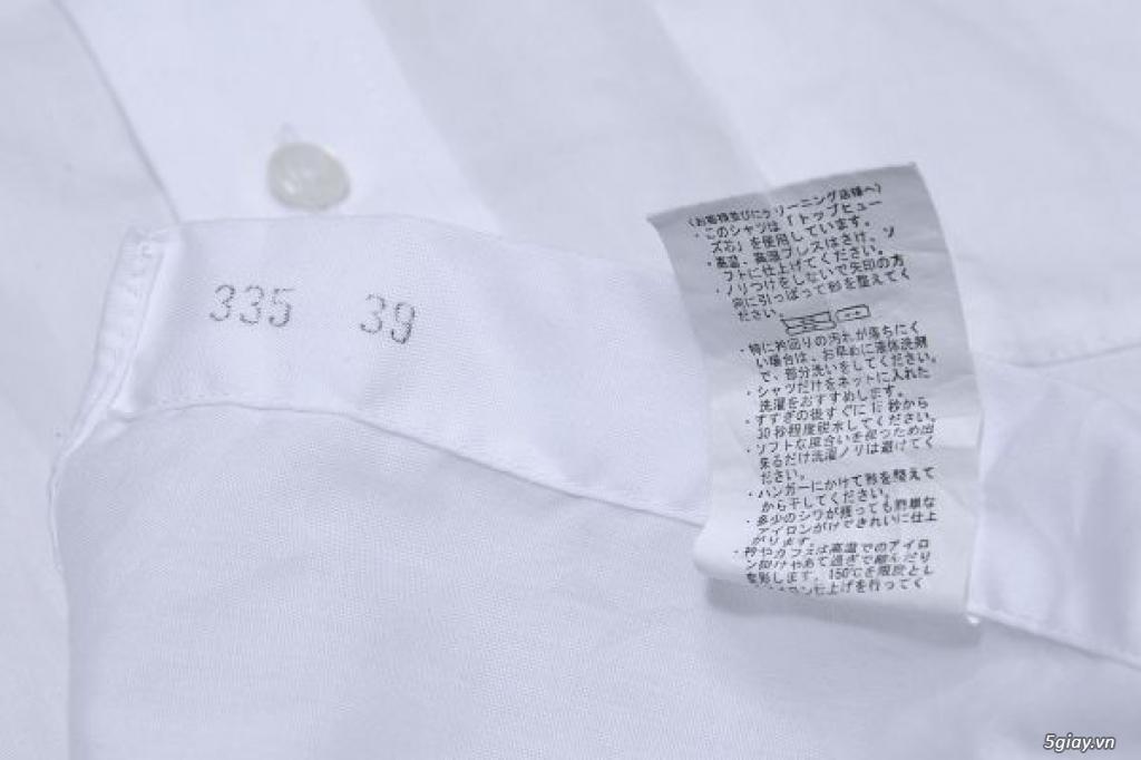5 áo sơ mi trắng Japan chuẩn công sở mời anh em Bid khởi điểm 120k/ms ET 22h59' - 22/9/2019 - 5